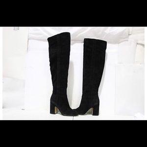 Franco Sarto Black Suede Knee Boots Size 6M